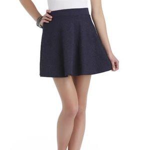 SELENA GOMEZ Jacquard Junior Navy Skater Skirt